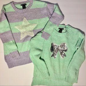 *BUNDLE* Blush & Bloom Girls Sweater Star & Bow!